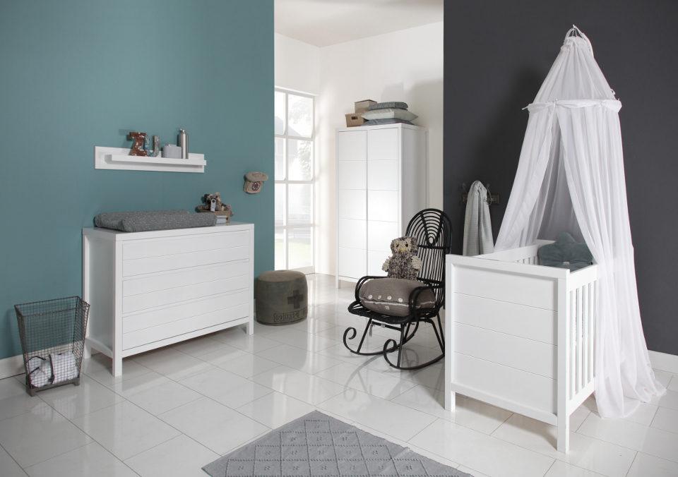 Europebaby Atlantic modern fehér babaszoba bútor