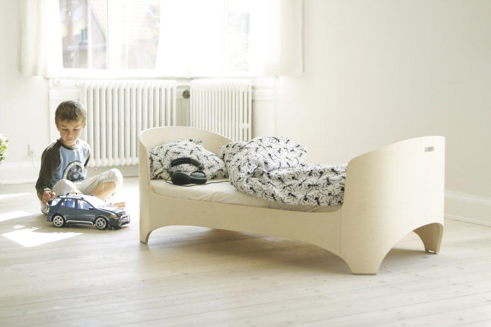 Leander fehérített junior ágy 150 cm hosszú